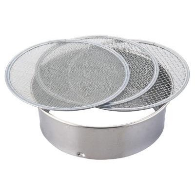Photo1: No.1373  Stainless soil sieve 21cm [245g/210x65mm]