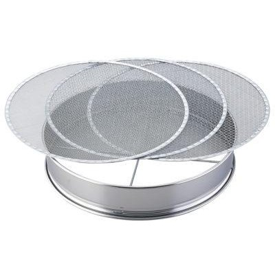 Photo1: No.1374  Stainless soil sieve 37cm [670g/370x75mm]