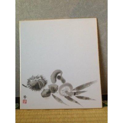 Photo1: No.SH1003  chestnut and mushroom