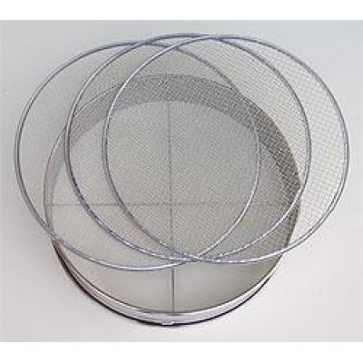 Photo1: No.60277  Stainless Soil Sieves(2,4,7mm) [540g/37cm]