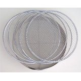 No.60320  Stainless Soil Sieves(1,2,4,7,10mm) [1000g/37cm]