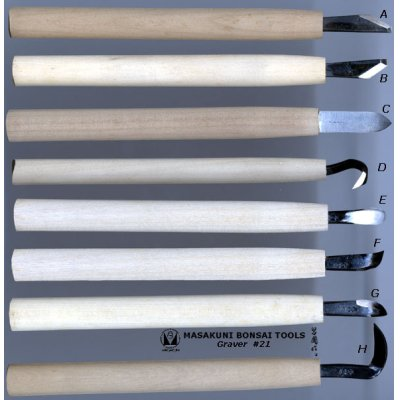 Photo1: No.0021  Graver wooden grip (A to H) [20g (160g)/200mm]