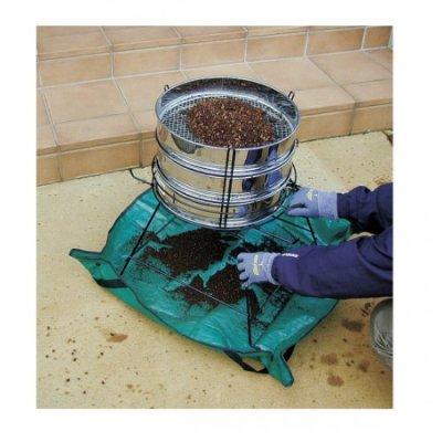 Photo1: No.2375  Soil sieve stand [3800g/505x465x570mm]